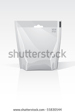Snack package, for new design, vector - stock vector