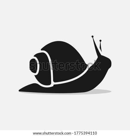 Snail icon isolated on white background. Simple flat snail shell vector pictogram. Сток-фото ©