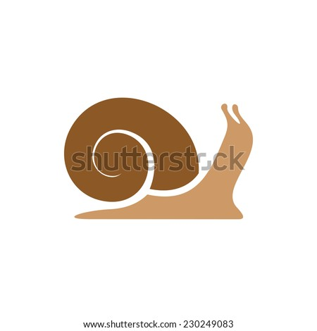 snail logo template simple
