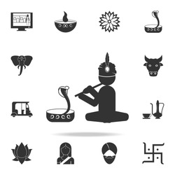 snake charmer icon. Detailed set of Indian Culture icons. Premium quality graphic design. One of the collection icons for websites, web design, mobile app on white background