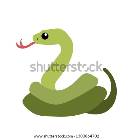 Snake emoji vector