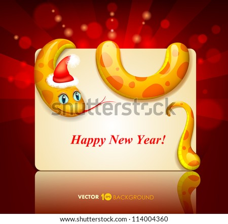 Snake. Happy new year 2013. Vector eps 10.