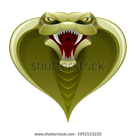Stock Photo Snake head on a white background