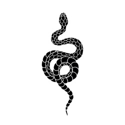 snake illustration traditional tattoo flash