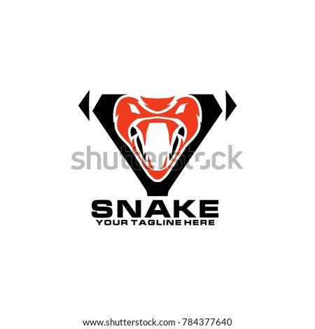 snake logo design vector