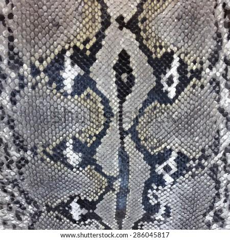 Snake skin python pattern textile texture. Reptile fabric natural animal design
