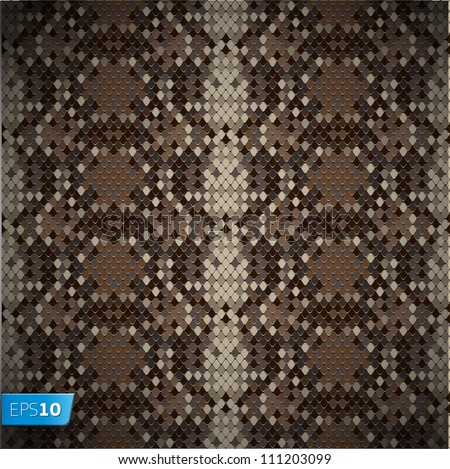 Snake skin reptile seamless pattern, vector Eps10 illustration.