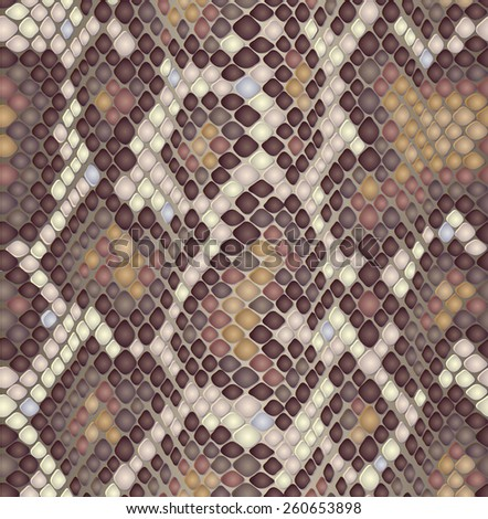 Snake skin seamless pattern. Seamless reptile texture.  Animal print. Can be used for fabrics, wallpapers, scrap-booking, ornamental template for design and decoration, etc