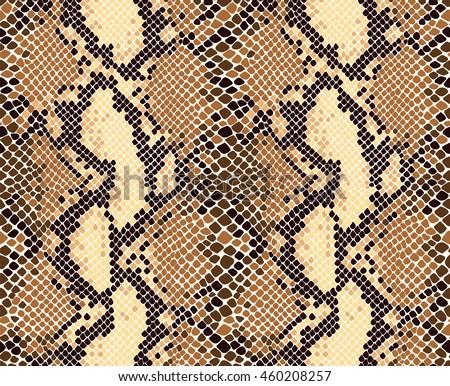Snake skin seamless vector pattern. Reptile seamless texture. Animal print.