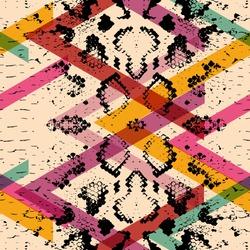 Snake skin texture seamless pattern. black magenta orange pink purple blue print, Geo ethnic modern trendy Geometric abstract background fashion creative art print for design site blog fabric. Vector