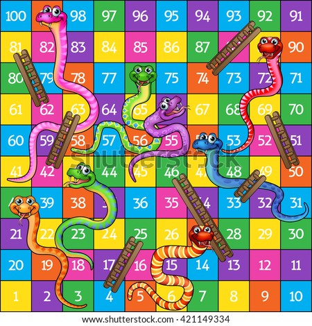 snakes and ladders board game