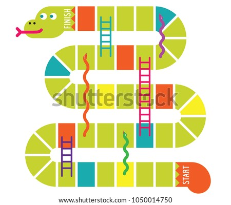 snakes and ladders game board....