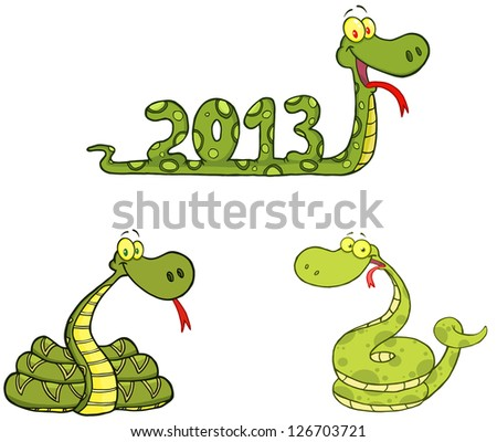 Snakes Cartoon Mascot Characters-Vector Collection