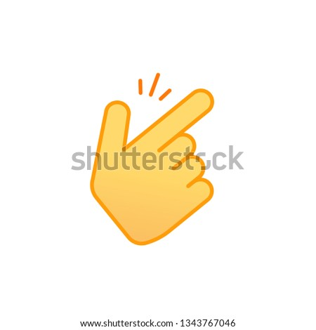 Snap fingers vector icon, line outline art snapping thumbs gesture emoticon symbol isolated on white, finger click signal