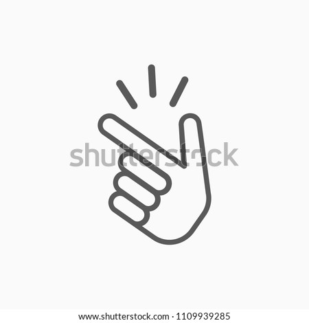 snap of the fingers icon