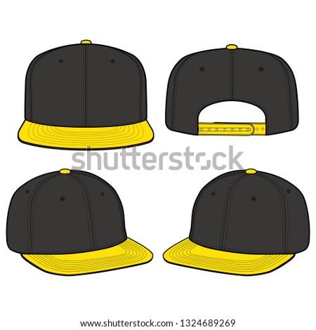 SNAPBACK Cap fashion flat vector illustration mockup design 32a79bc7173d