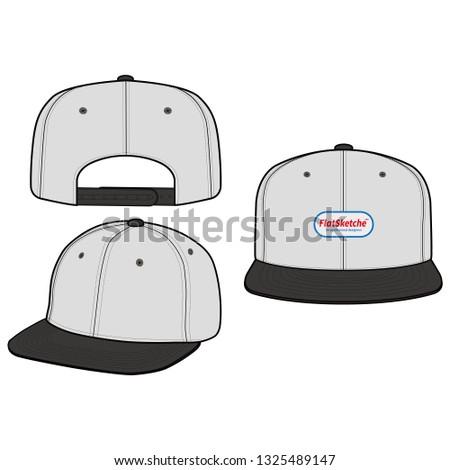 SNAPBACK Cap Fashion flat vector mockup design 52c0ce70513b