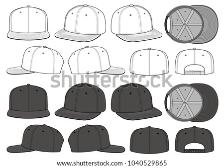 SNAPBACK set vector illustration flat sketches template