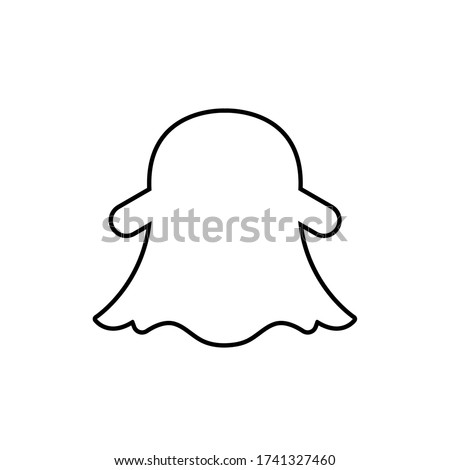 Snapchat logo,snapchat icon vector illustration.EPS 10