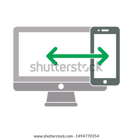 snart devices icon. flat illustration of snart devices - vector icon. snart devices sign symbol