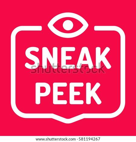 sneak peek badge with eye icon