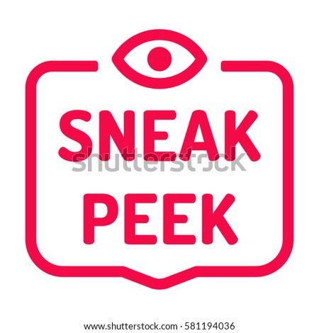 sneak peek badge with eye icon