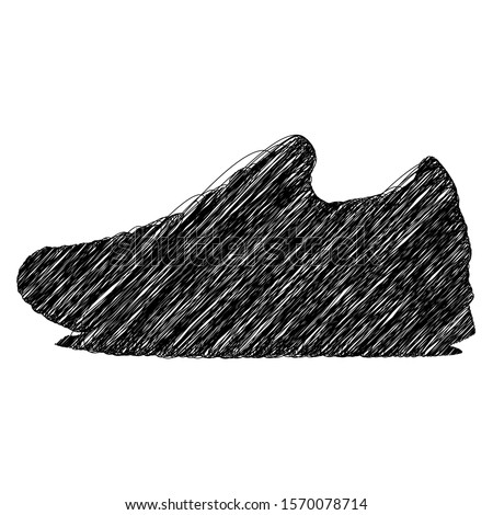 sneaker scrible sketch line art