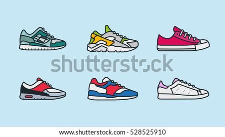 sneaker shoe minimal color flat