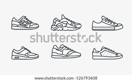 sneaker shoe minimalistic flat