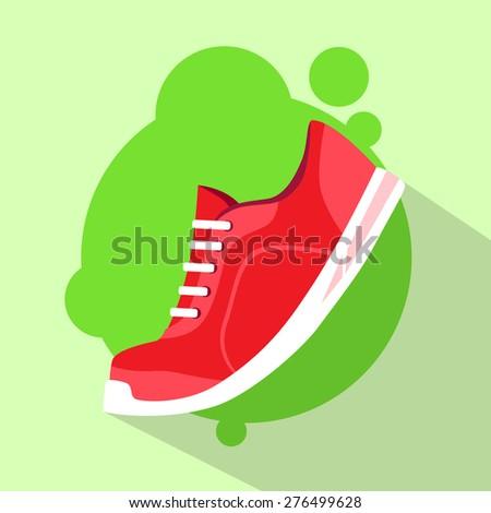 sneaker sport running shoe flat