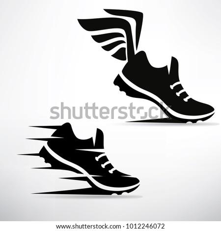 sneaker stylized vector symbol set