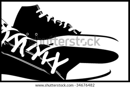 sneakers abstract vector  illustrations
