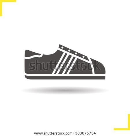 sneakers icon drop shadow