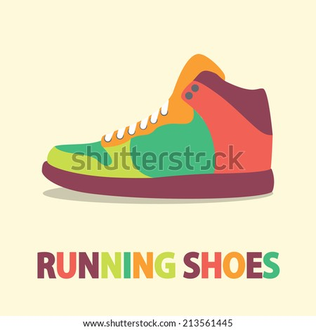sneakers icon in flat design