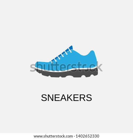 Sneakers icon. Sneakers symbol design. Stock - Vector illustration can be used for web