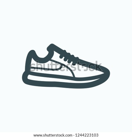 Sneakers icon, snickers, sport shoes vector icon