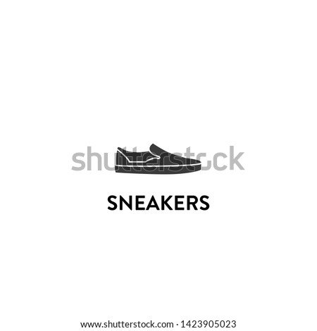 sneakers icon vector. sneakers vector graphic illustration