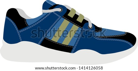 Sneakers in vector on white background.Sneakers vector illustration.