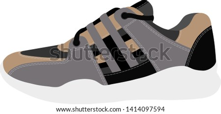 Sneakers in vector on white background.Sneakers vector illustration.Sports sneakers in vector on white background.