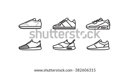 Sneakers minimal vector icon