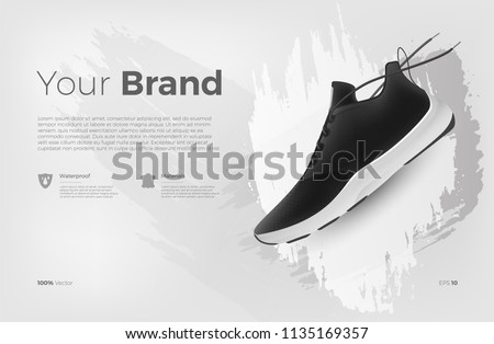 sneakers on abstract background