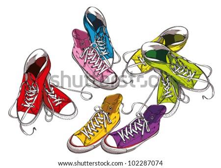 Sneakers Set in Colors