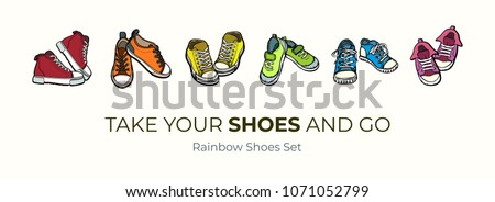 sneakers shoes pairs isolated