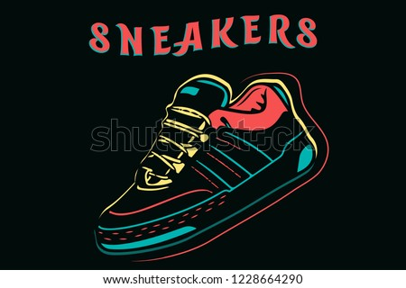 sneakers  sport shoes isolated