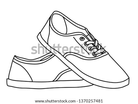 Snickers line drawing. Vector illustration