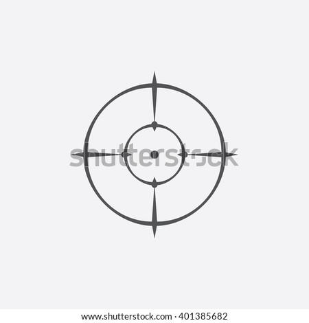 Sniper aim icon.