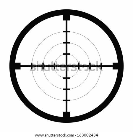 sniper black finder target