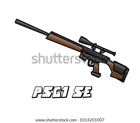 sniper riffle weapon model psg1