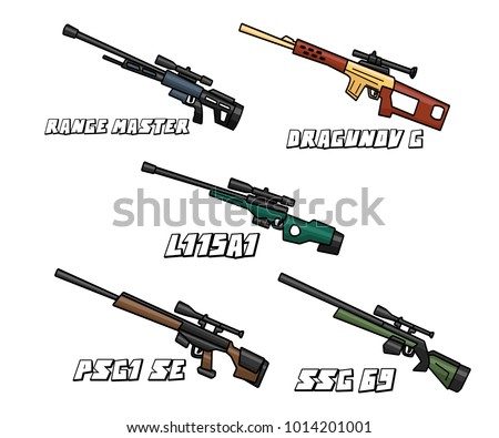 sniper riffle weapon set