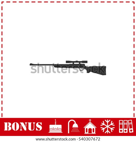 sniper rifle icon flat simple
